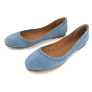 Frye Carson Ballet Flat Aqua Size 8